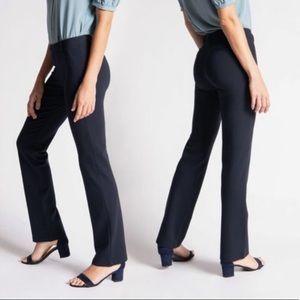 Betabrand Straight Leg Dress Yoga Pant Navy NWT